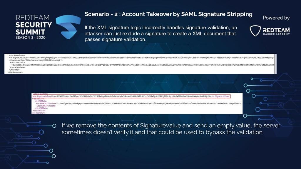 Scenario - 2 : Account Takeover by SAML Signatu...