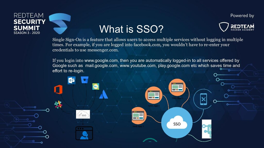 What is SSO? Single Sign-On is a feature that a...