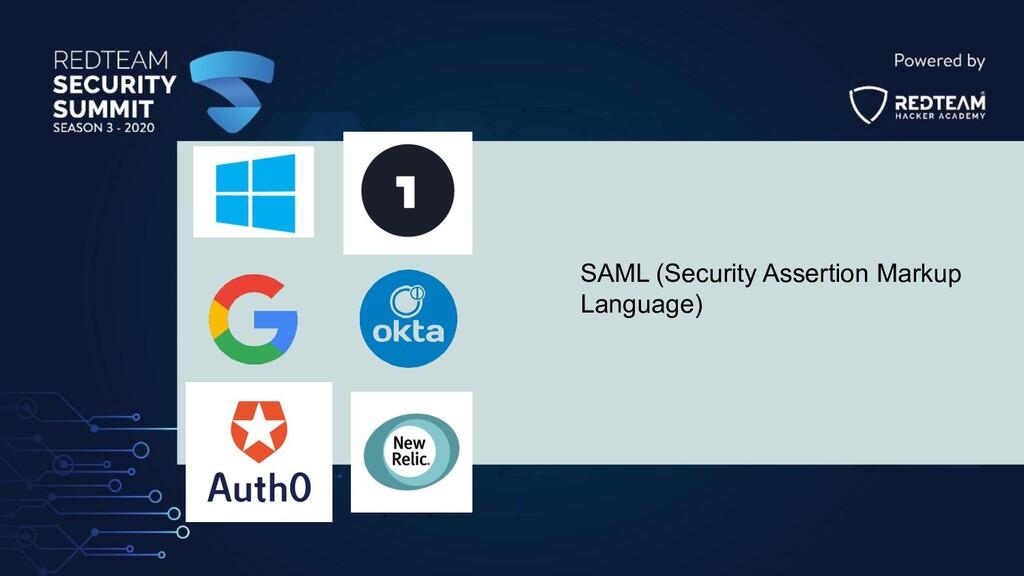SAML (Security Assertion Markup Language)