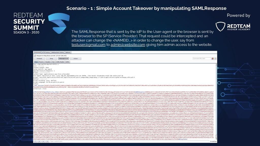 Scenario - 1 : Simple Account Takeover by manip...