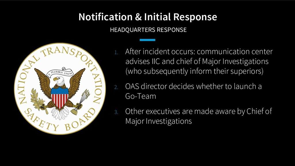 Notification & Initial Response HEADQUARTERS RE...