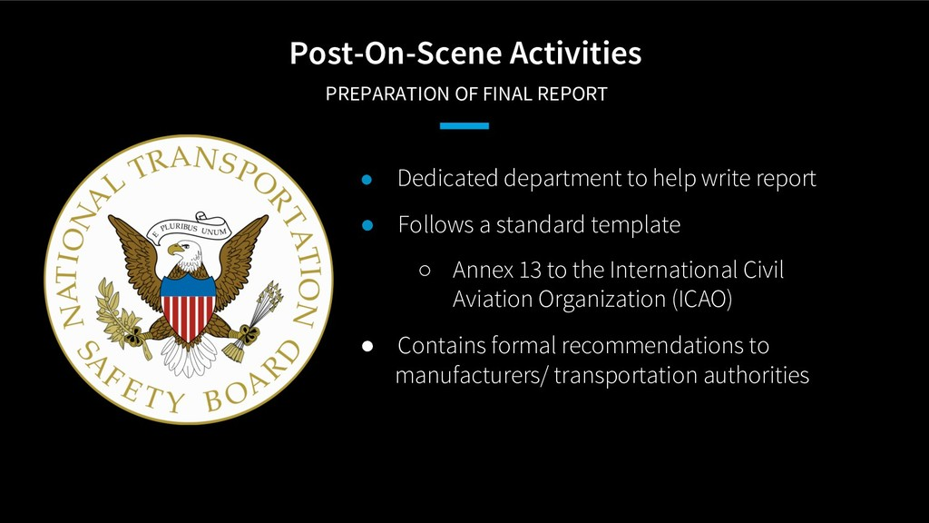 Post-On-Scene Activities PREPARATION OF FINAL R...