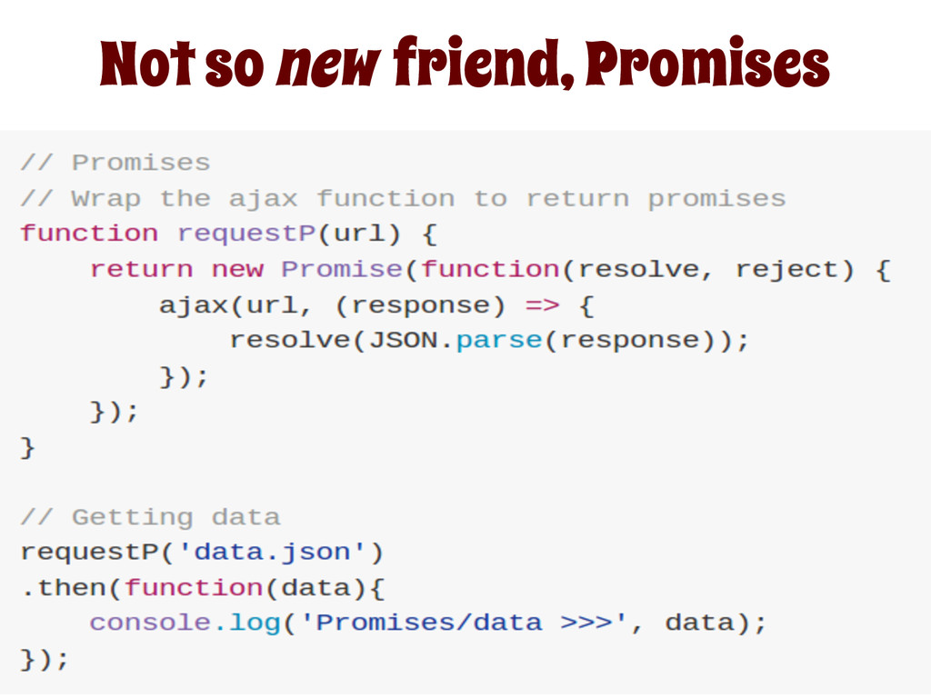 Not so new friend, Promises