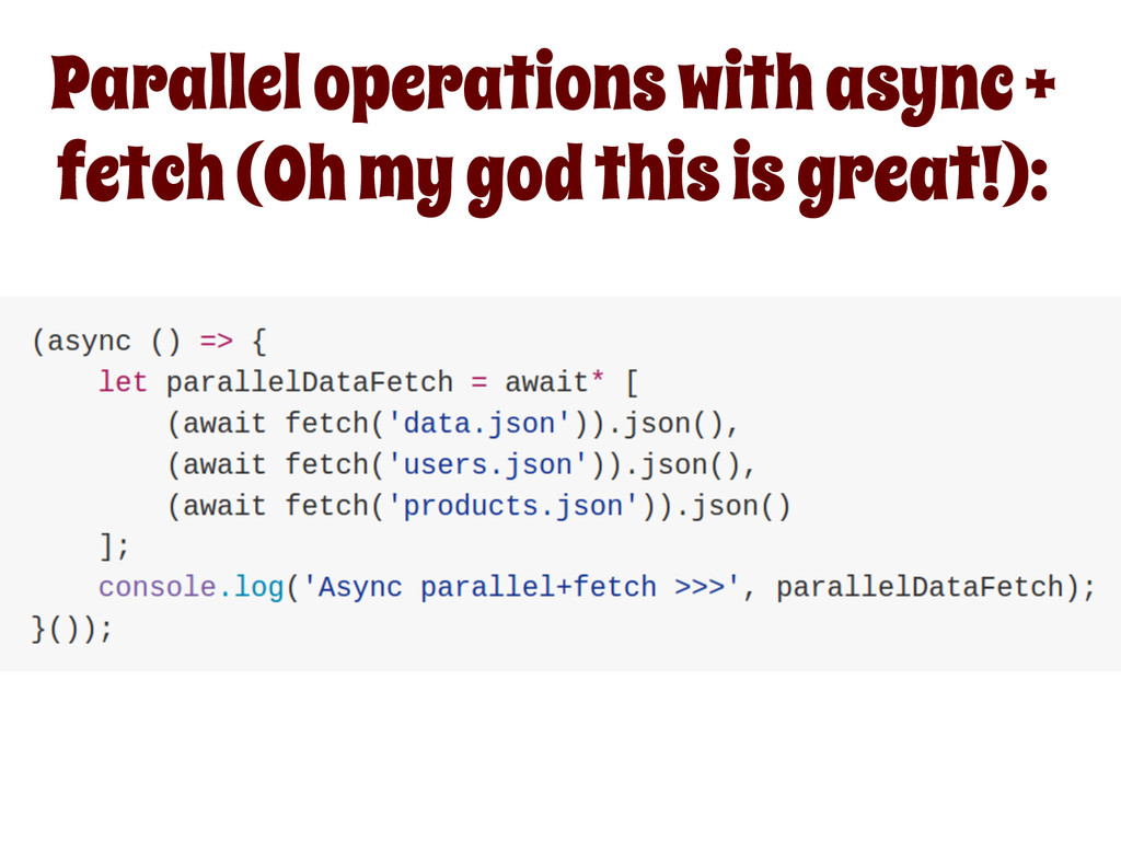 Parallel operations with async + fetch (Oh my g...