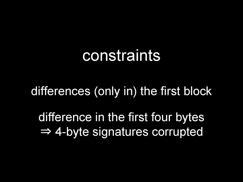 constraints differences (only in) the first blo...