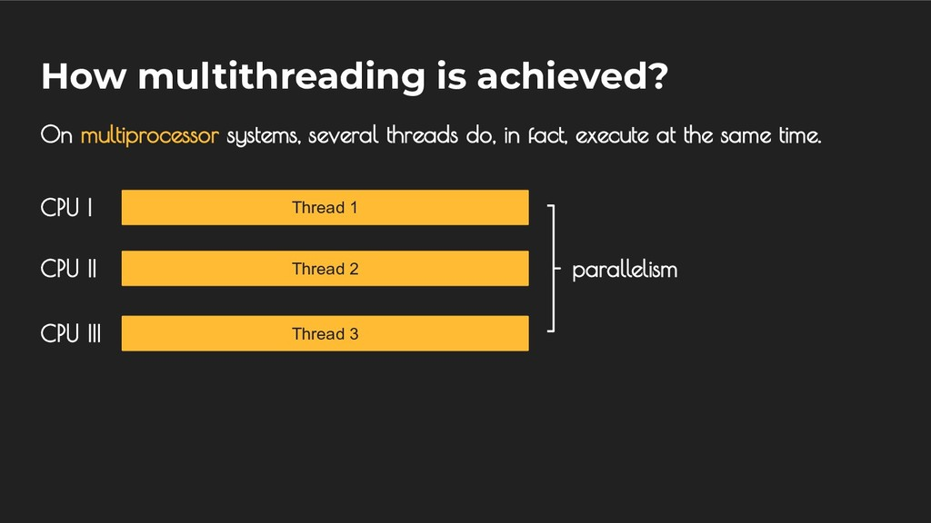 How multithreading is achieved? On multiprocess...