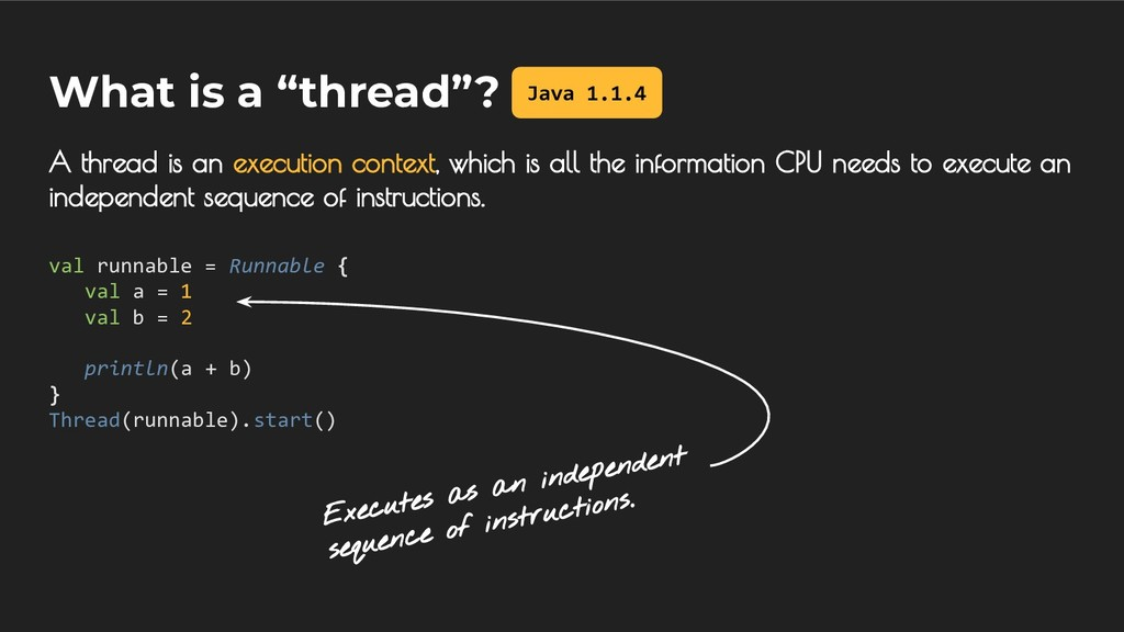 """What is a """"thread""""? A thread is an execution co..."""