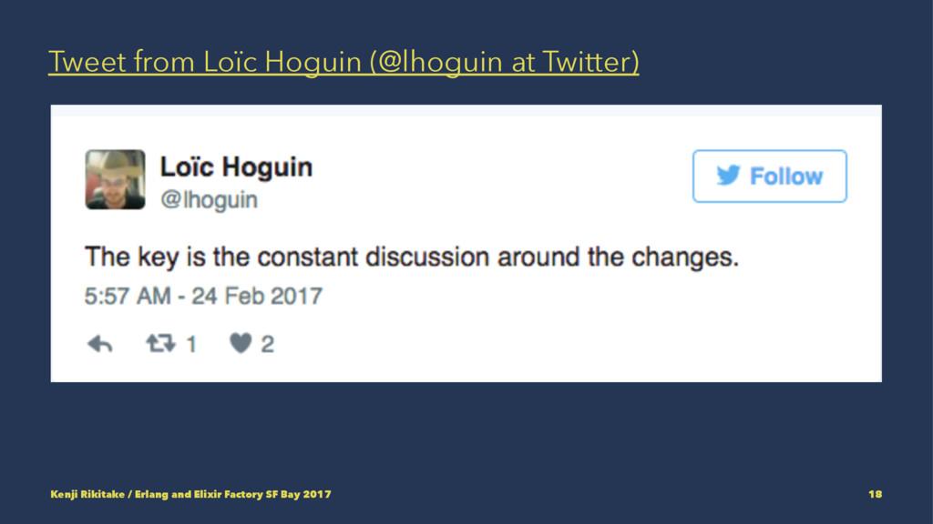 Tweet from Loïc Hoguin (@lhoguin at Twitter) Ke...