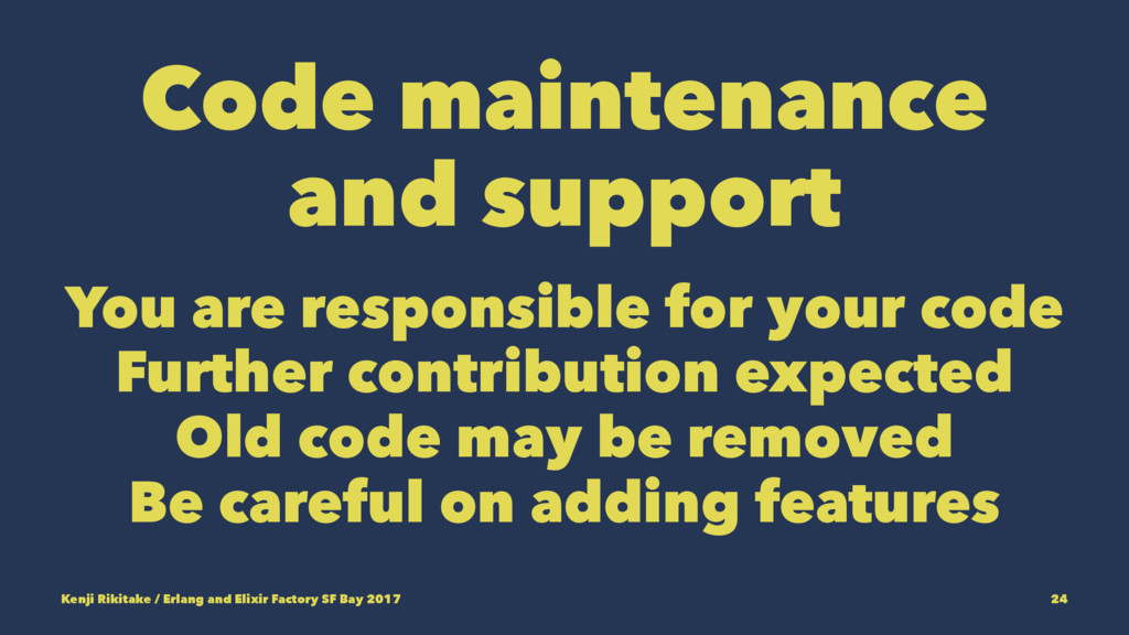 Code maintenance and support You are responsibl...