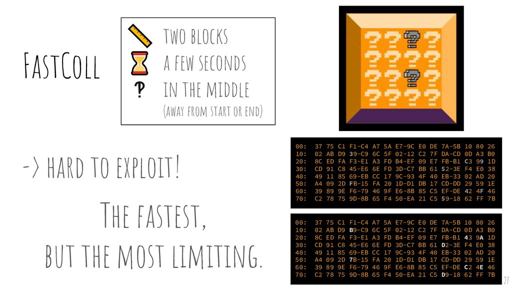 ⌛ ‽ -> hard to exploit! The fastest, but the m...