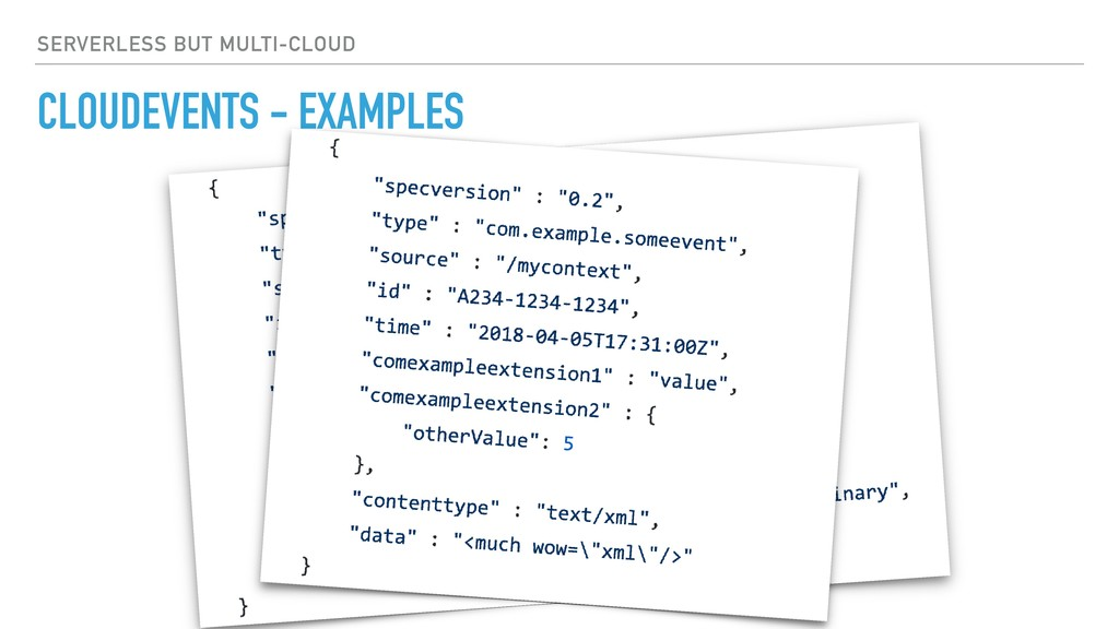 CLOUDEVENTS - EXAMPLES SERVERLESS BUT MULTI-CLO...