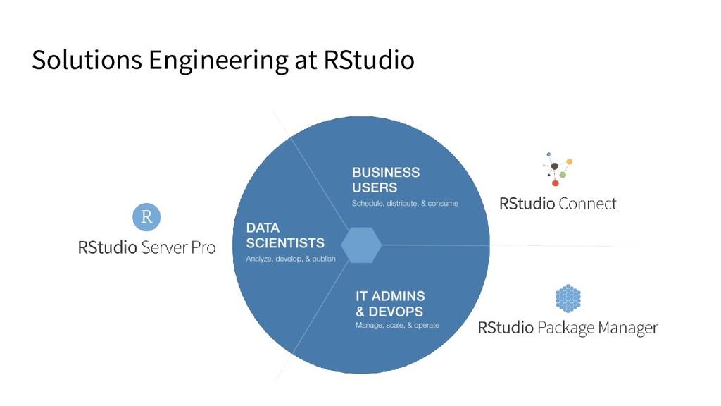 Solutions Engineering at RStudio