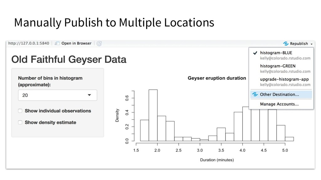 Manually Publish to Multiple Locations