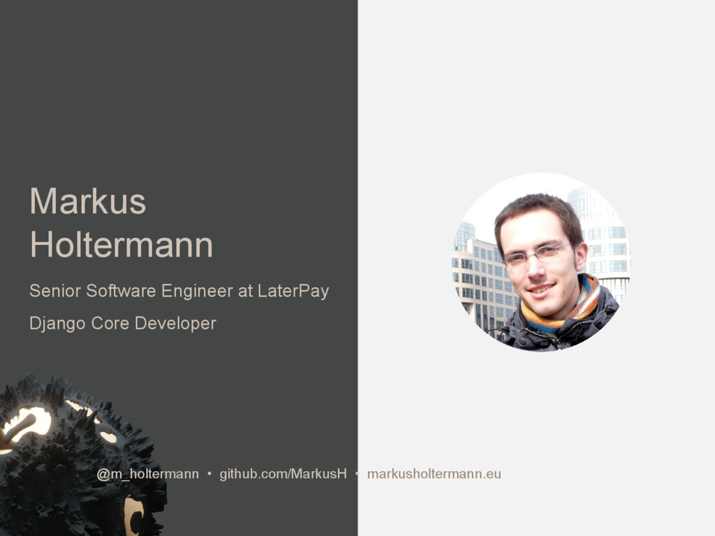 Markus Holtermann Senior Software Engineer at L...