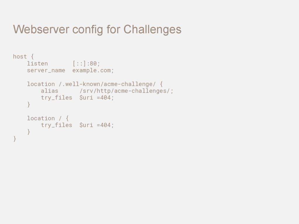host { listen [::]:80; server_name example.com;...