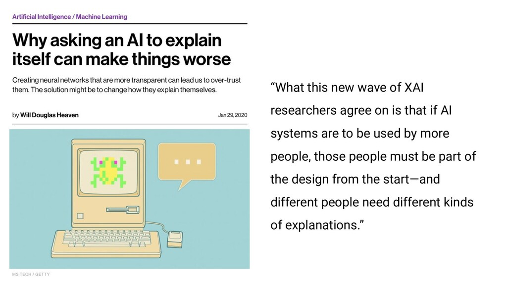 """What this new wave of XAI researchers agree on..."