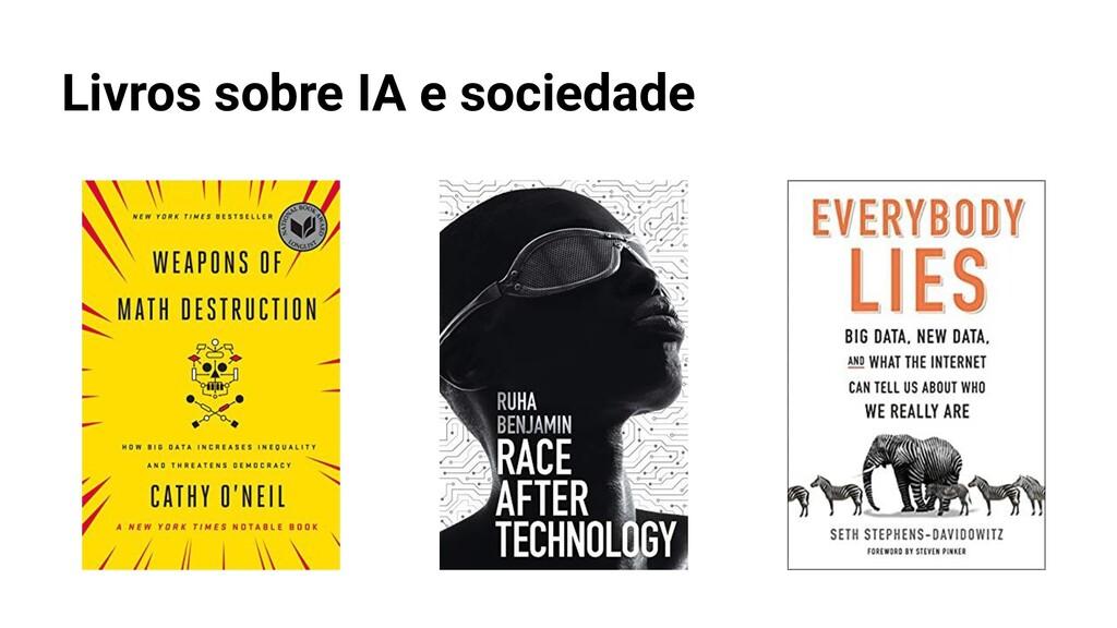 Livros sobre IA e sociedade