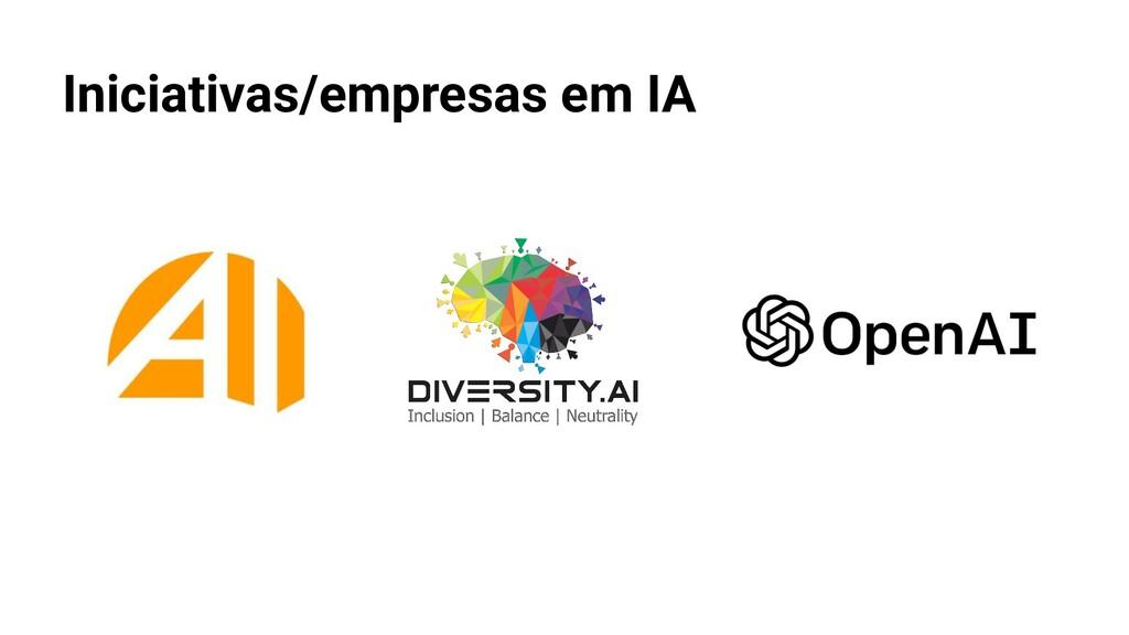 Iniciativas/empresas em IA
