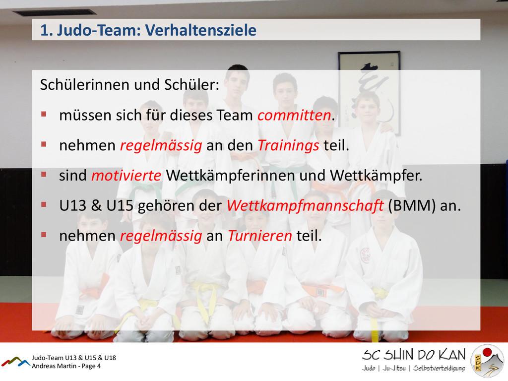 Andreas Martin - Page 4 1. Judo-Team: Verhalten...