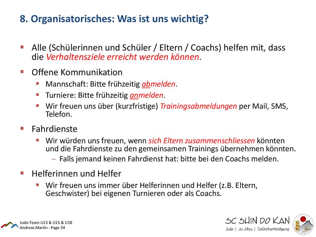 Andreas Martin - Page 34 8. Organisatorisches: ...
