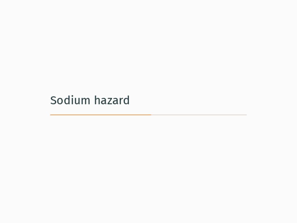 Sodium hazard