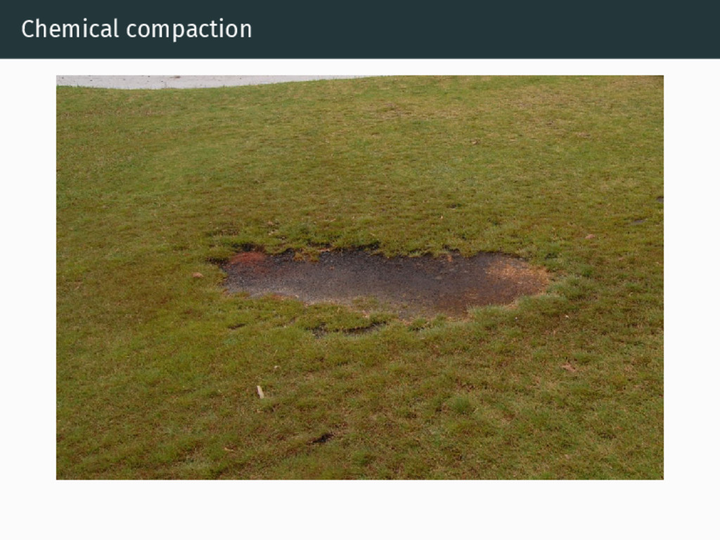 Chemical compaction
