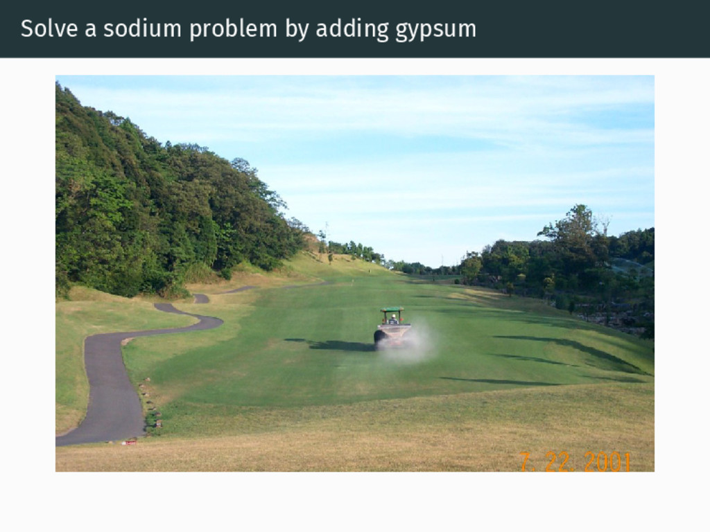 Solve a sodium problem by adding gypsum