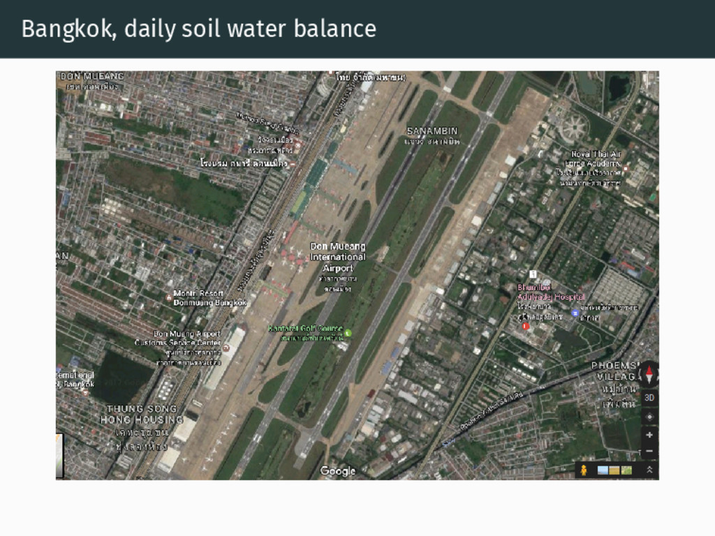 Bangkok, daily soil water balance