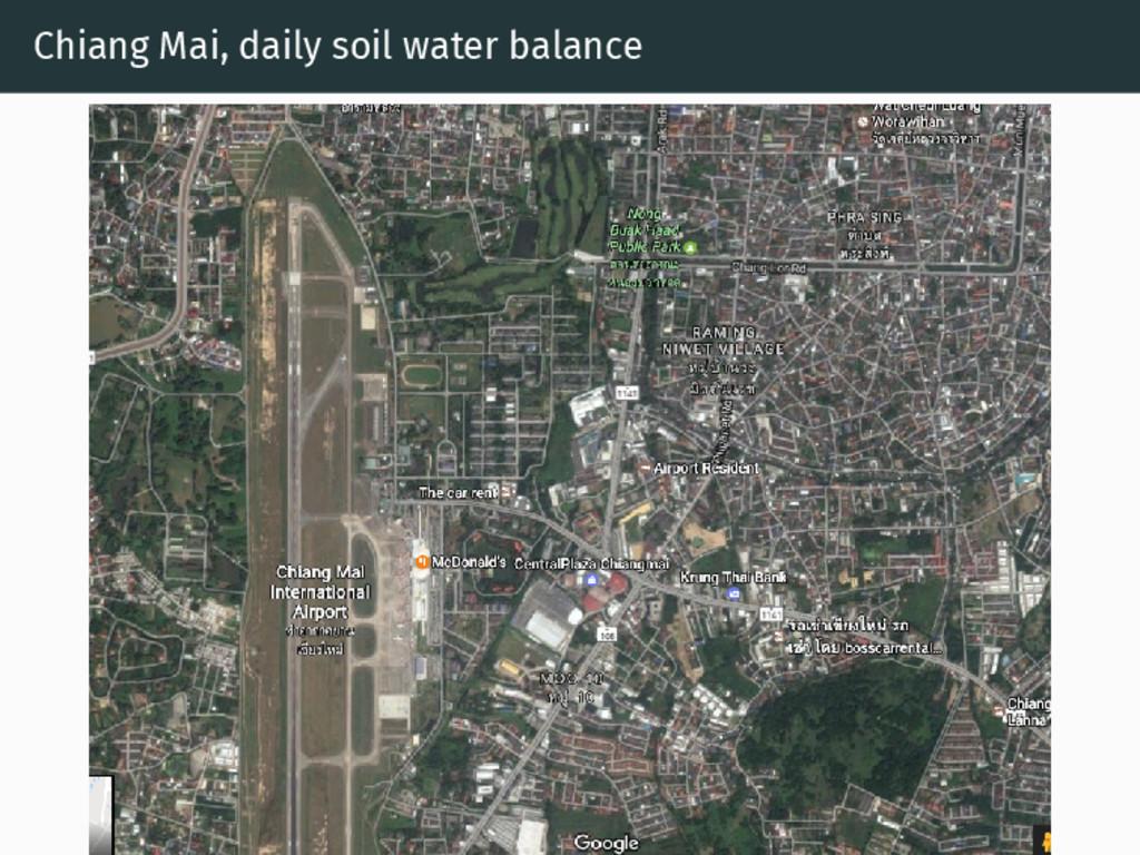 Chiang Mai, daily soil water balance