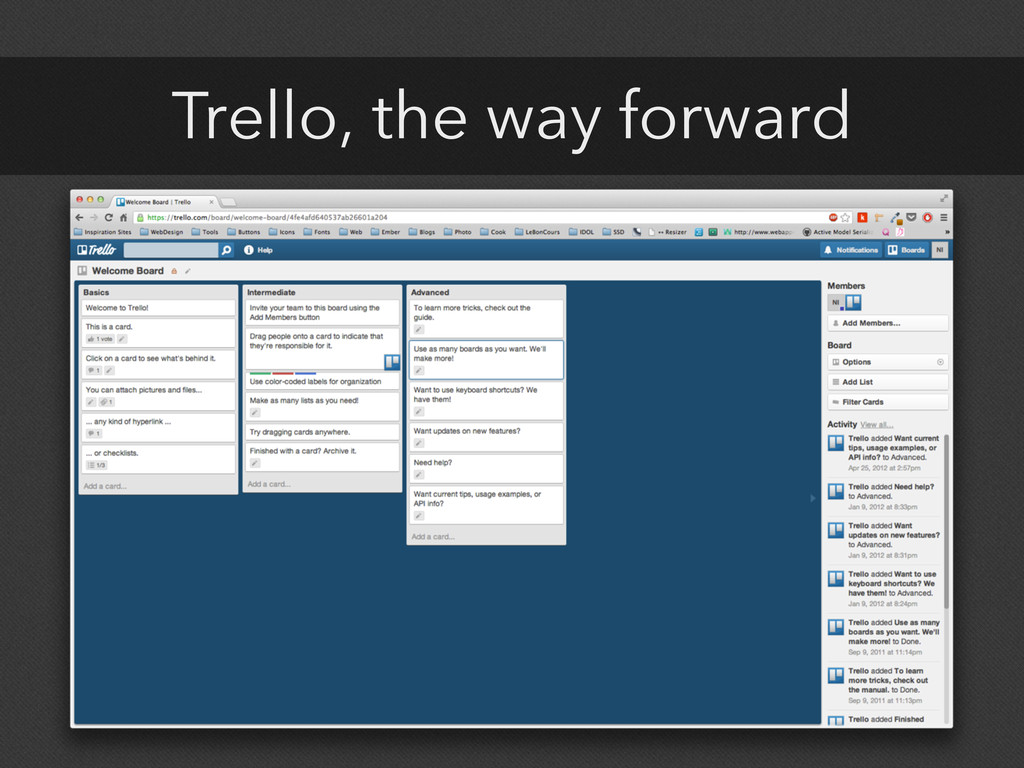 Trello, the way forward