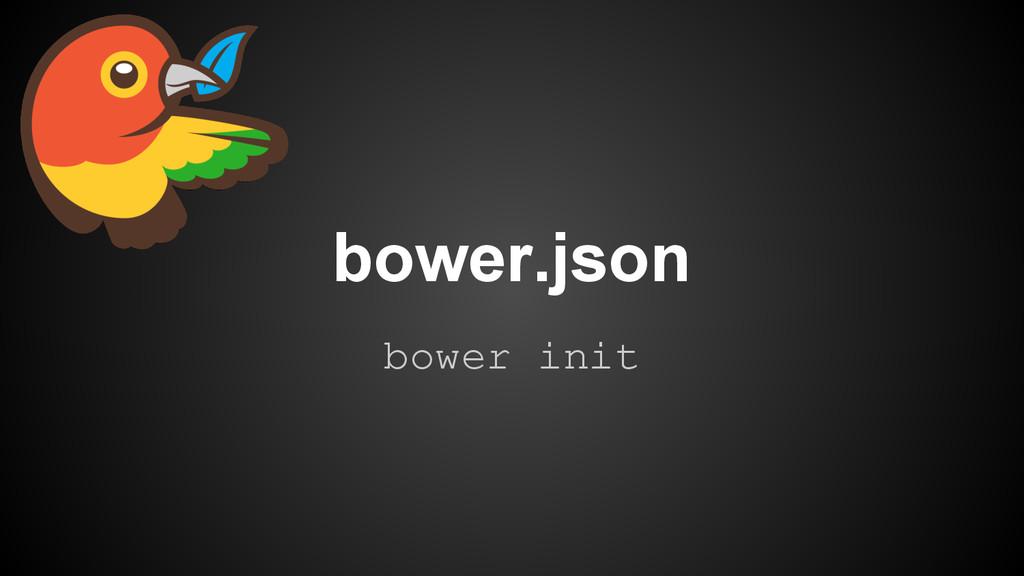 bower init bower.json