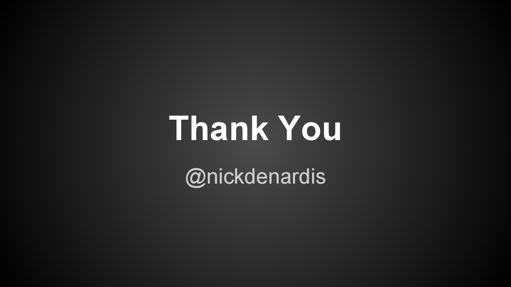 @nickdenardis Thank You