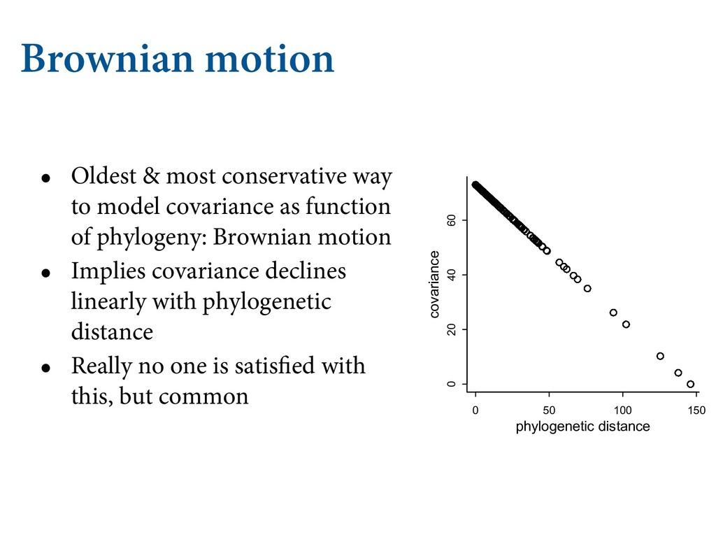 Brownian motion • Oldest & most conservative wa...