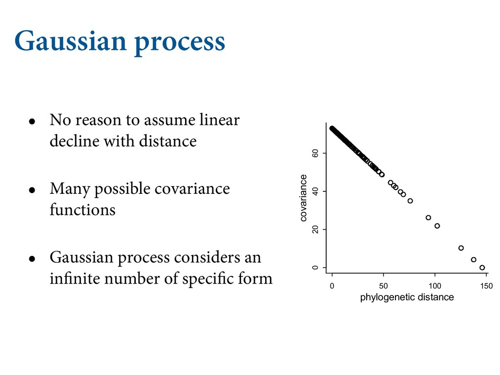 Gaussian process • No reason to assume linear d...