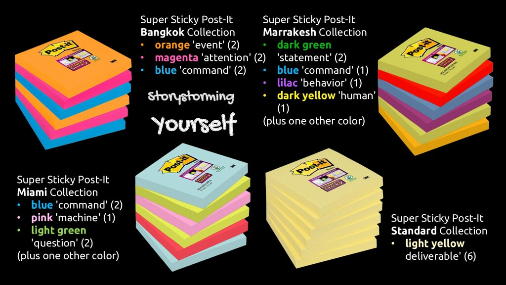 Super Sticky Post-It Bangkok Collection • orang...