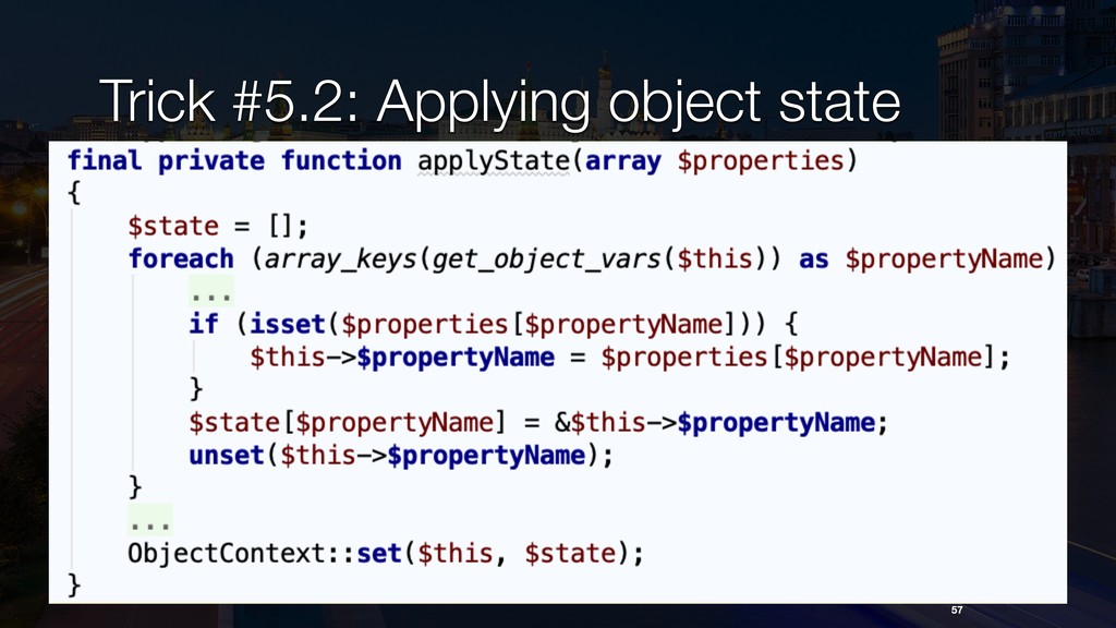 Trick #5.2: Applying object state 57