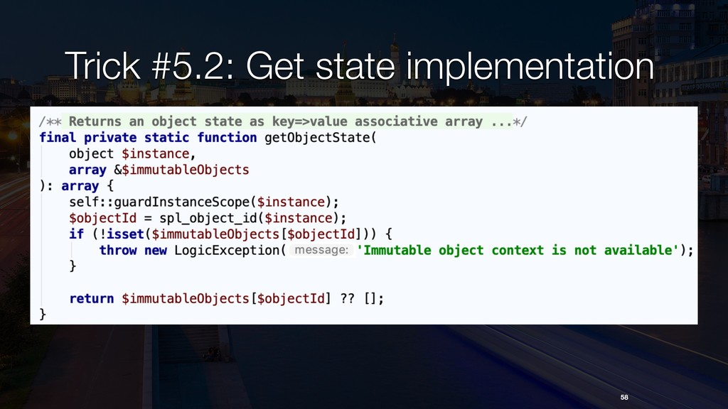 Trick #5.2: Get state implementation 58