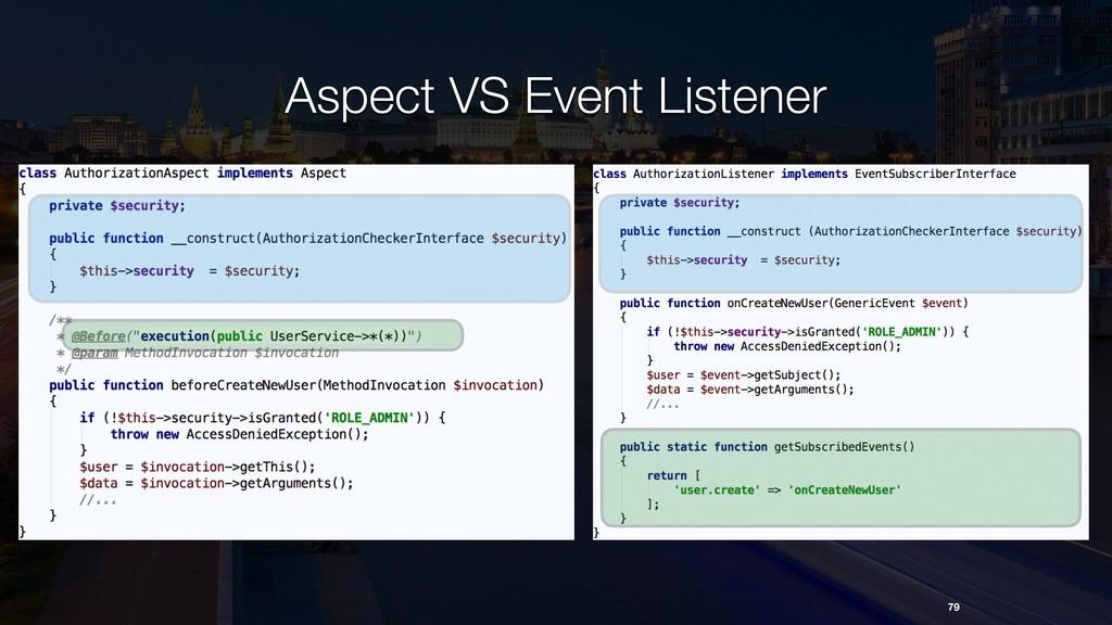 Aspect VS Event Listener 79