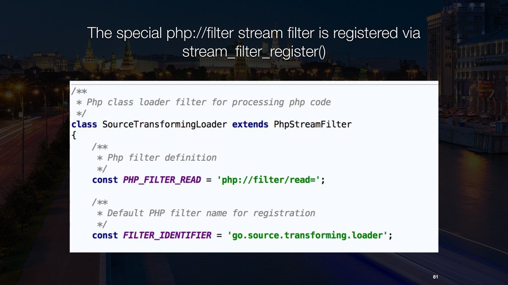 81 The special php://filter stream filter is regi...