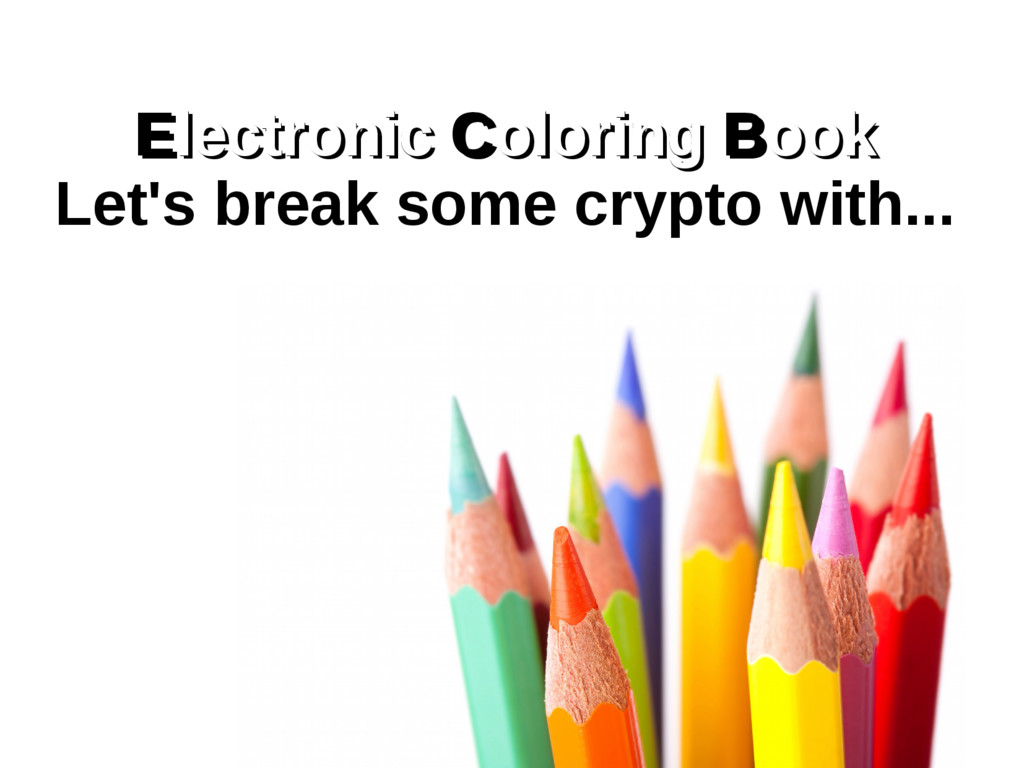 Electronic Coloring Book Electronic lectronic C...