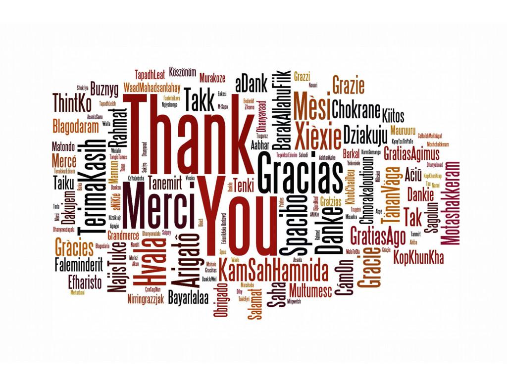 Thank you! Merci! Dank je! Danke!