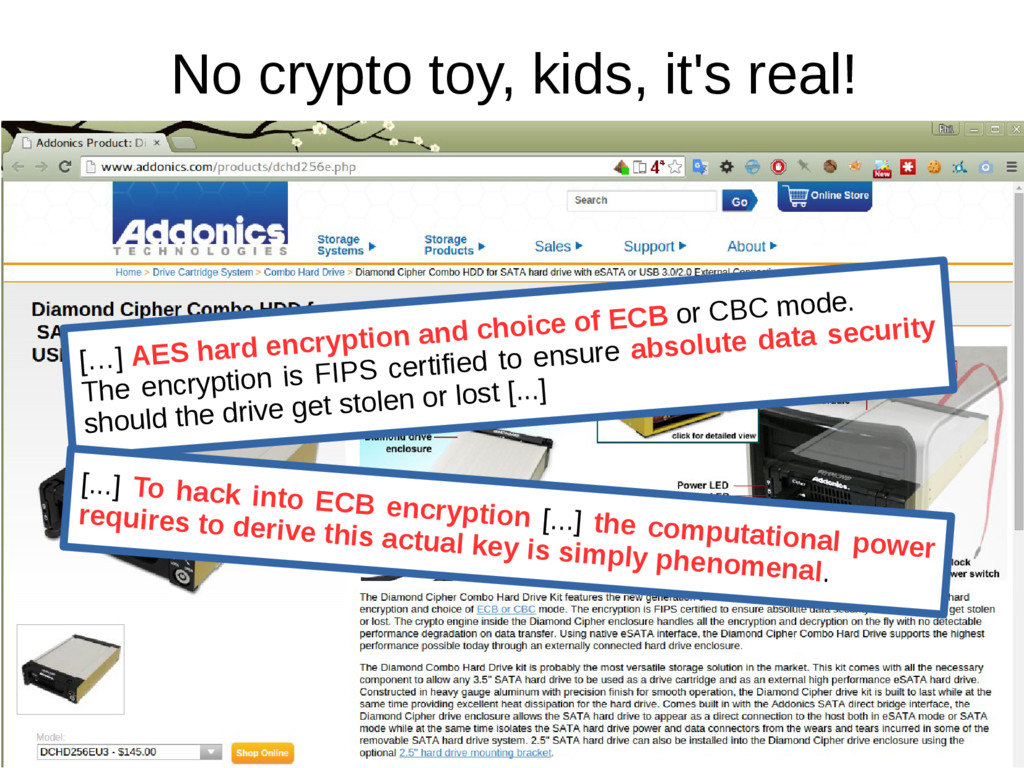No crypto toy, kids, it's real! […] AES hard en...