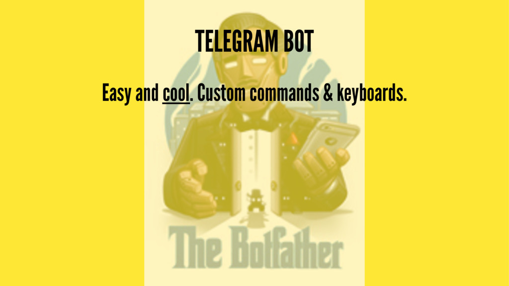 TELEGRAM BOT Easy and cool. Custom commands & k...