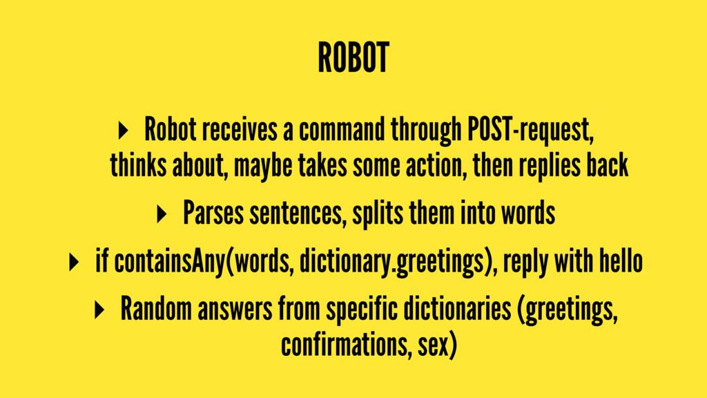 ROBOT ▸ Robot receives a command through POST-r...
