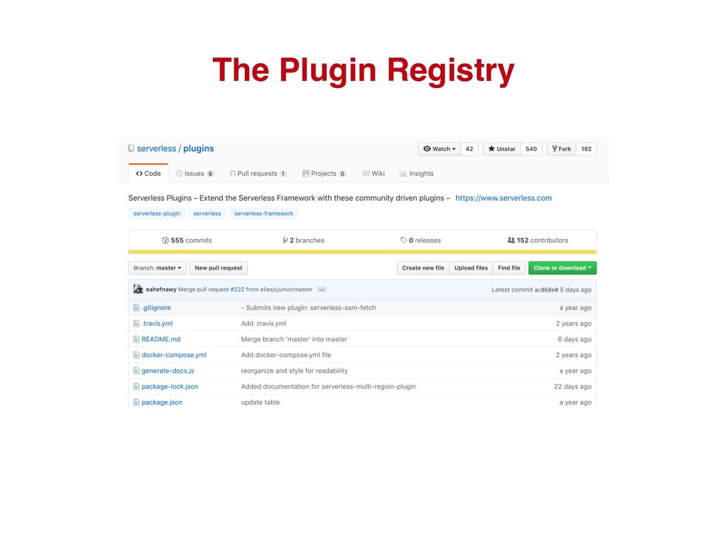 The Plugin Registry