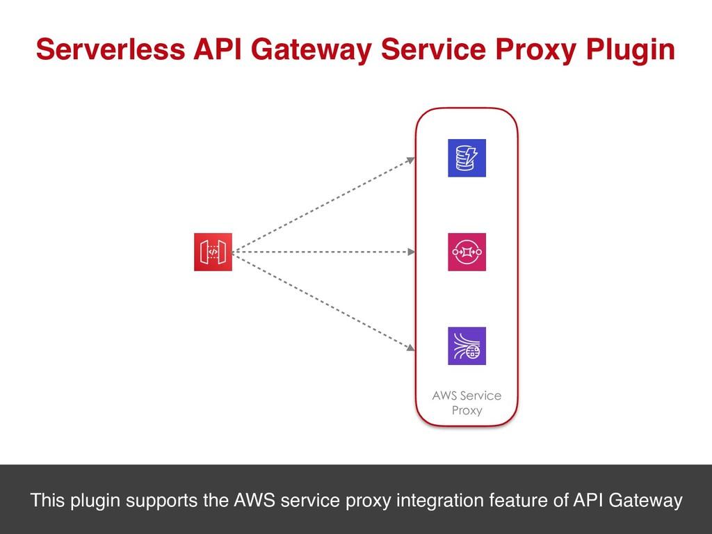 Serverless API Gateway Service Proxy Plugin AWS...