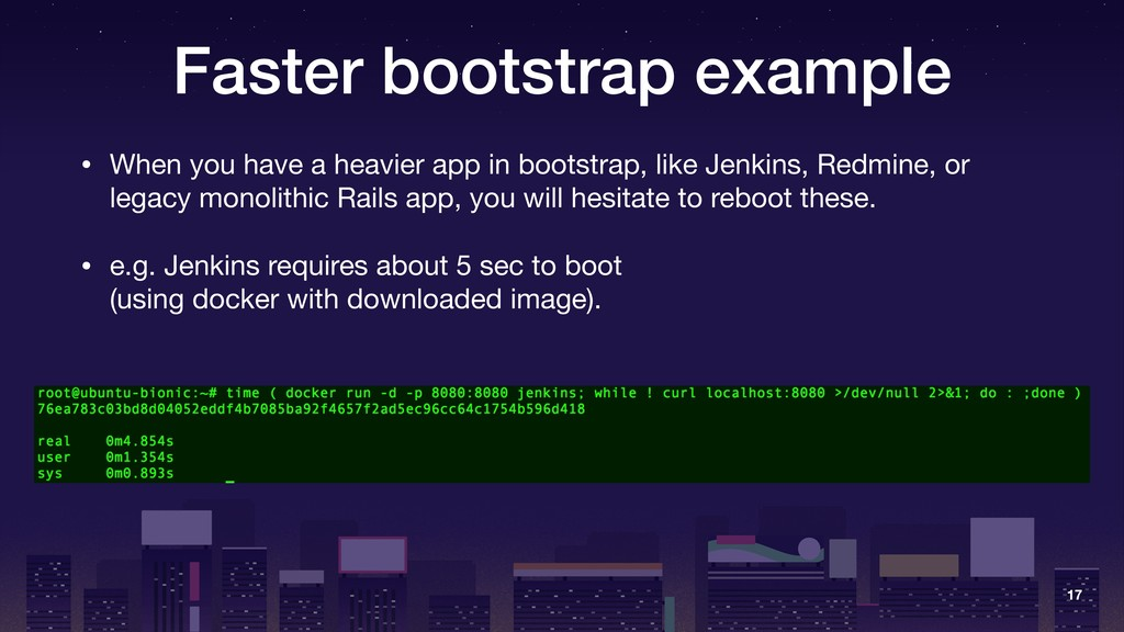 Faster bootstrap example • When you have a heav...