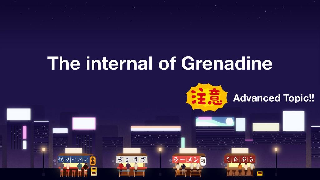 The internal of Grenadine Advanced Topic!!
