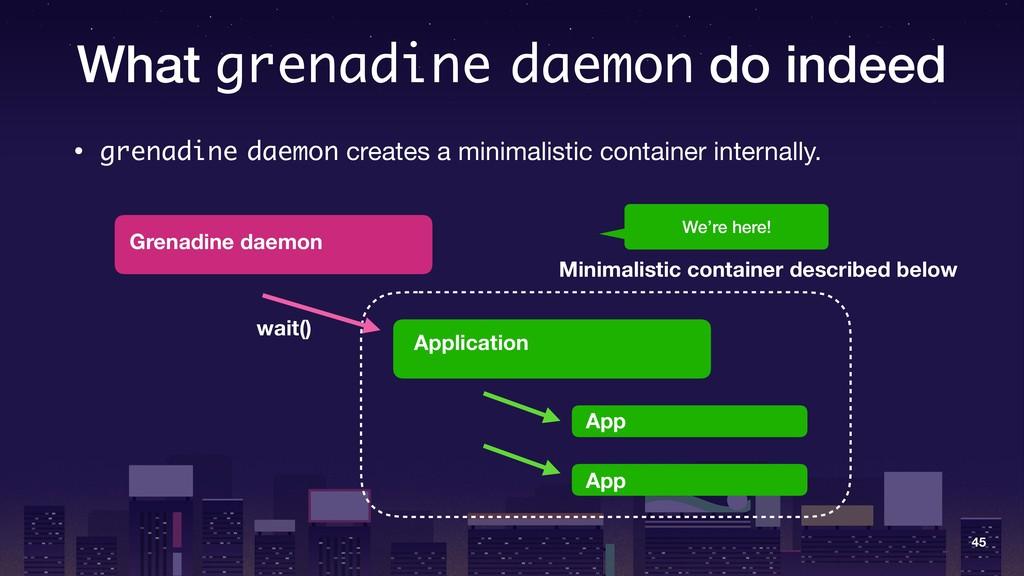 What grenadine daemon do indeed • grenadine dae...