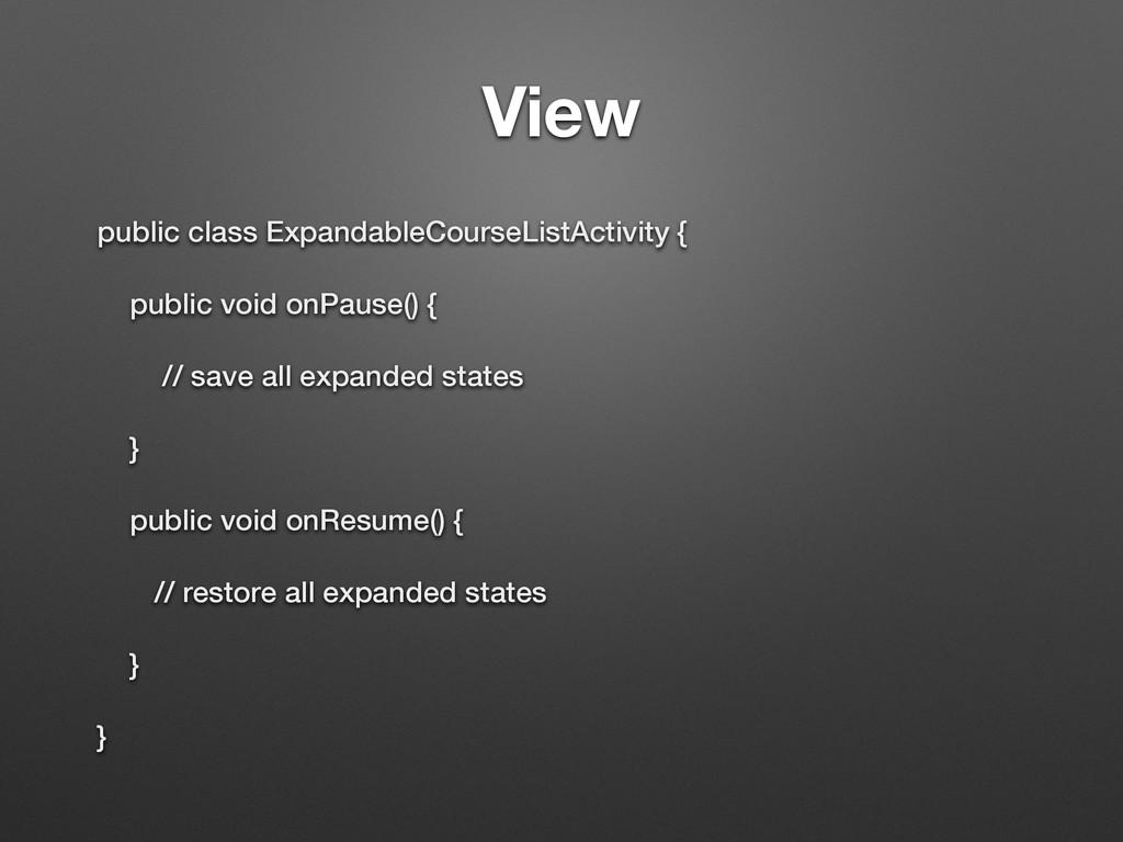 View public class ExpandableCourseListActivity ...